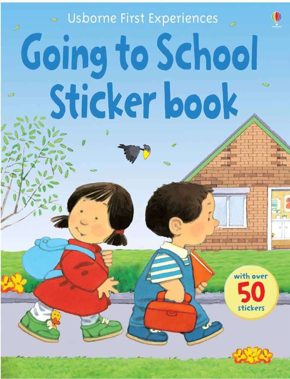 Going to school sticker book - immagine di copertina